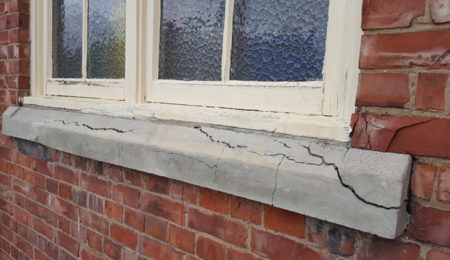 Cracked Window Ledge